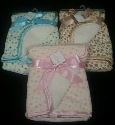 Personalized Minky & Sherpa  Baby Blanket --Pink, Blue or Tan **Baby Shower Gift