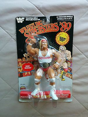 WWF LJN Wrestling Superstars '89 Black Card Hulk Hogan White Shirt MOC 1989