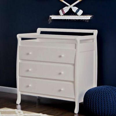 3 Drawer Infant Baby Nursery Changing Table Dresser Station French White