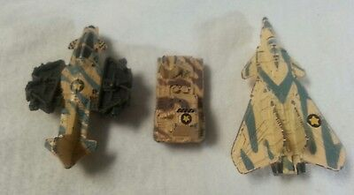 Vintage 3 Metal Toy Army KPT89  2 Airplanes & 1 Tank Kenner Parker Micro Mini