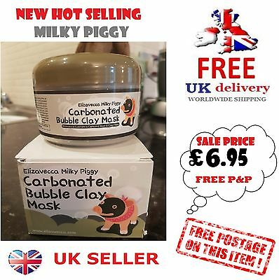 Milky Piggy Clay Black Mask Carbonated Mud Bubble Face Pore Blackhead Peel Acne