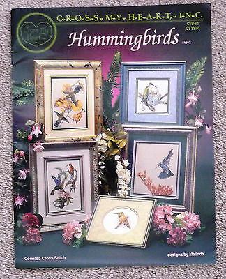 Cross my heart Inc Hummingbirds 5 patterns for counted cross stitch