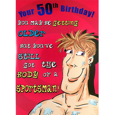 50th BIRTHDAY Card FUNNY Rude HUMOROUS Male Happy GREETINGS