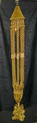 Beautiful Tan Macrame Plant Hanger, Pottery Beads, 6ft without Plant