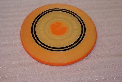Vintage 1965 Wham O Frisbee Official Pro Model Orange Black Rings