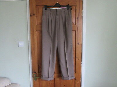new northern soul / 50s twin pleated turn up trousers  W 32 X L 30
