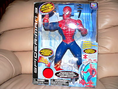 """SPIDERMAN 3 Action Command Figure 14.5"""" & Remote Control Canadian Edition w/ Box"""