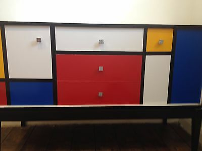 1970's Multi Coloured Sideboard (In the style of Dutch Artist Rietveld)