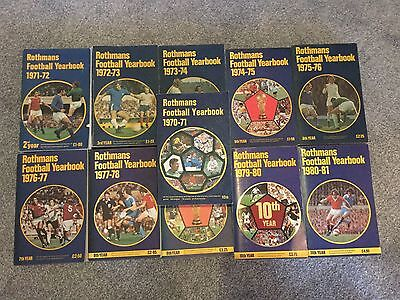 Rothmans Football Yearbook Collection 1970-1981