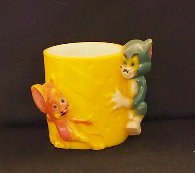 Vintage 1970 Plastic Egg Cup - Tom And Jerry - M.g.m. Inc - Easter Gift