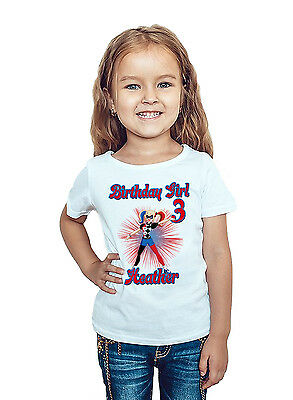 DC Super Hero Girls Shirt Custom Name and Age Harley Quinn Birthday Shirt