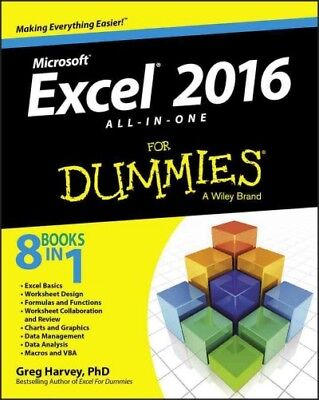 Microsoft Excel 2016 : All-in-One for Dummies, Paperback by Harvey, Greg, Ph....