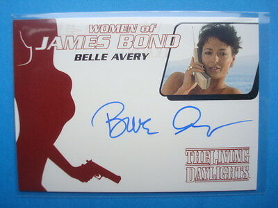 Rittenhouse **Women Of JAMES BOND 007**Error Auto/Autograph Card** BELLE AVERY