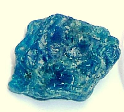 Apatite, blue-facet rough-crystal,(1)14x13x6mm,9.85ct,AP-A38,natural specimen