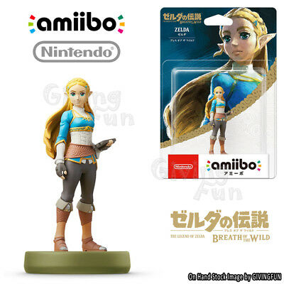 ORIGINAL Nintendo Switch amiibo ZELDA BREATH OF THE WILD ZELDA NFC Figure Toy