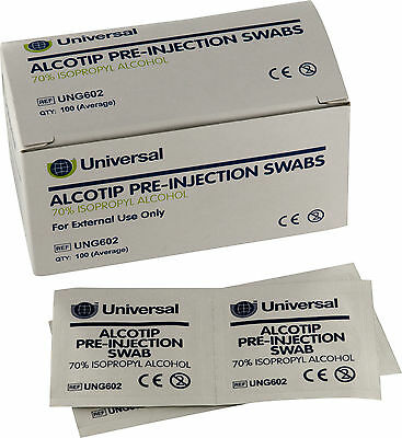 Universal Pre Injection Swabs 70% IPA Alcohol Wipes NHS Grade for Tattoo Nails