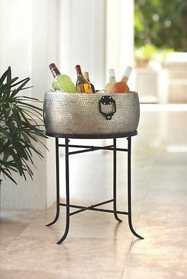 Round Beverage Drink Tub and Stand, Party Decor, Food Safe, Ice, Cooler, Bucket