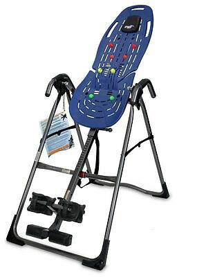 Teeter EP-560 Ltd Inversion Table with Back Pain Relief Kit, Blue New