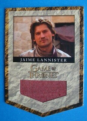 2013 *GAME Of THRONES* Season 2 Costume/Relic Card RL4 JAIME LANNISTER *212/325*