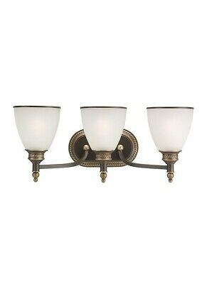 Sea Gull 44351-708 Laurel Leaf 3 Light Bathroom Vanity Light in Estate Bronze