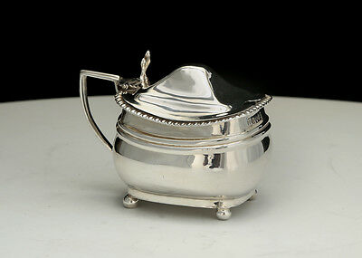 George III silver mustard pot, London 1810 Duncan Urquhart