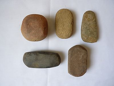 Collection 5 Neolithic Stone Axes,Tools and Battle ball