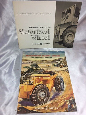 Early1960'S General Electric Motorized Wheel Drive Brochures