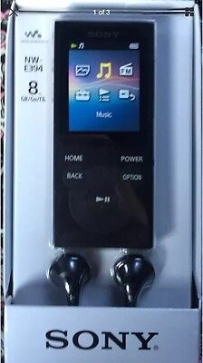 New Sony NW-E394 Walkman MP3 Player with FM Radio, 8 GB - Black