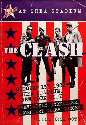 The Clash LIVE AT SHEA STADIUM Music Poster 2'x3' Rare 2008 Mint