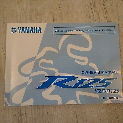 Genuine Yamaha YZF-R125 Owners Handbook Manual 2012