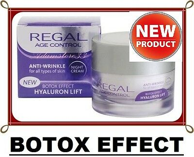 NEW REGAL AGE CONTROL ANTI WRINKLE Collagen NIGHT CREAM HYALURON LIFT TOP PRICE