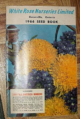 WHITE ROSE Nurseries 1966 Seed Book Unionville Ontario Catalog Flowers Vegetable