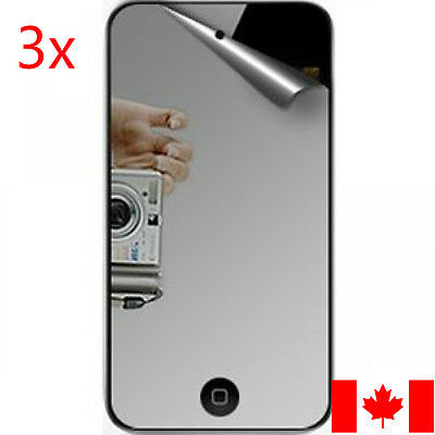 3x Mirror Screen Protector Guard Film for Apple iPod Touch 4 4th 4G Gen