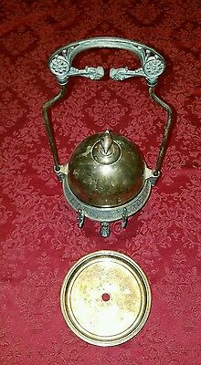 Antique ROGERS SMITH & CO Silverplate Sliding Lid Caviar / Butter Dish with tray