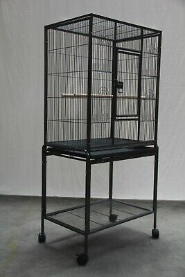 135 cm Bird Cage Parrot Budgie Canary Aviary Stand-alone Budgie With Perch