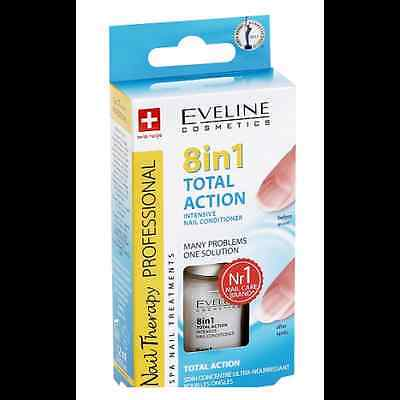 Intensive Nail Conditioner EVELINE 8 in 1 TOTAL ACTION - Nail Strengthener