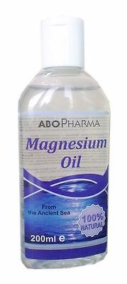 Best Price Natural Magnesium Oil 200ml AboPharma Minerals from the Ancient Sea