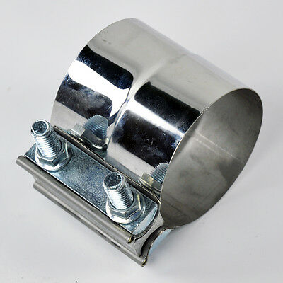 """2.5"""" 2 1/2"""" Stainless Exhaust Band Clamp Step Clamps for Catback Muffler"""