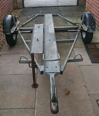Motorcycle Trailer 1 Bike, Galvanised, Factory made, NOT home built. Single bike
