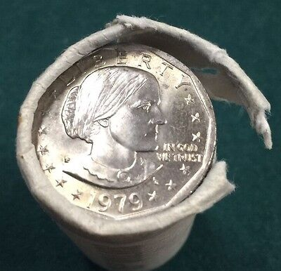 1979 P Near Date Roll Of UNC Susan Anthony Dollars (25) Coins