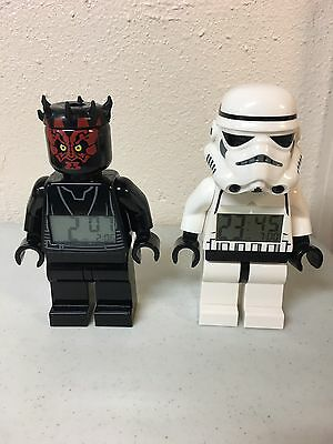 Lego Star Wars Clocks Storm Trooper And Earth Maul Work!