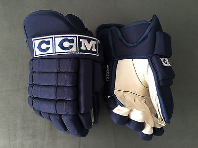 """Pro Stock Pro Return 13"""" CCM Navy 4-Roll Gloves by Eagle Oilers Panthers Canucks"""