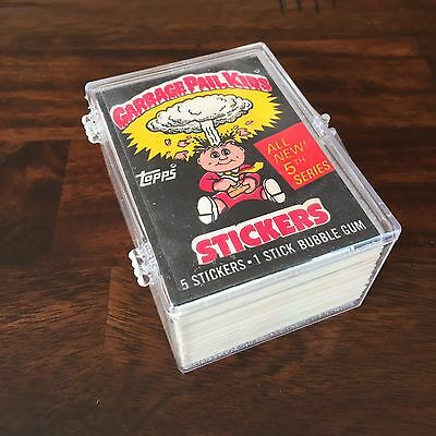 "Garbage Pail Kids 1986 Series 5 Non Die Cut ""Error"" Set - 88 Cards"