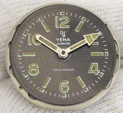 Yema Junior Sous Marine Vintage Divers Watch Movement HF60A & Dial Ø24mm