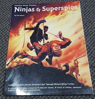 Ninjas & Superspies Revised - Role Playing Game Softcover - Palladium Books 525
