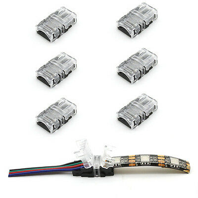 5 × 2/4pin LED Connector Connect Wire for 10mm 5050 RGB Waterproof LED Strip