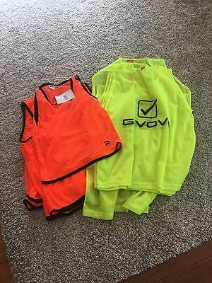 10 Sports Bibs Patrick and Givova Brand Mixed Sizes Orange and Yellow