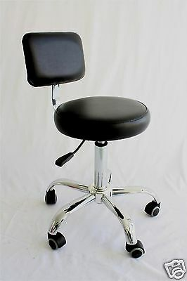 Hairdressing Beauty Master Stool Chair Slides & adjustable back rest  R.R.P $199