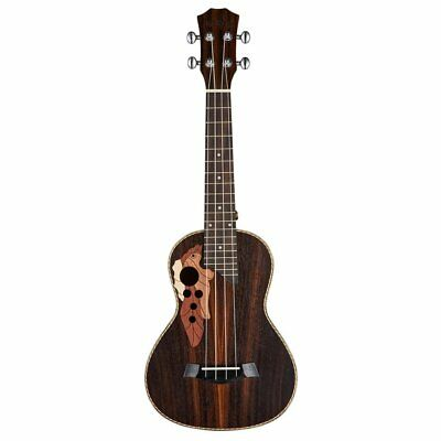 "4 String Guitar Grape-shaped Hole All Rosewood Hawaiian Concert 23"" Ukulele BU"