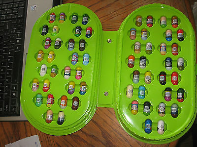 Mighty Beanz case with 60 beans with 2 rare special editions flagman & Burnout +